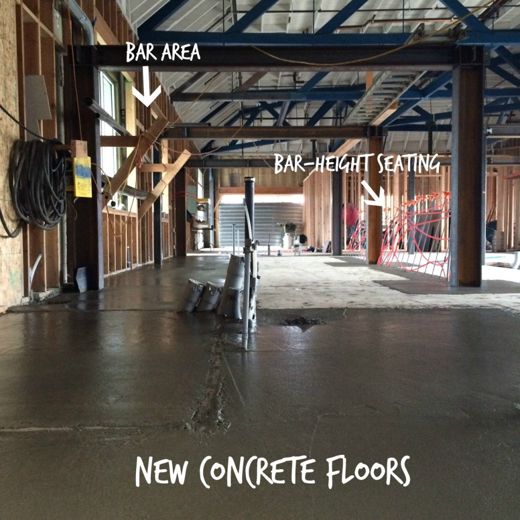 new concrete floors