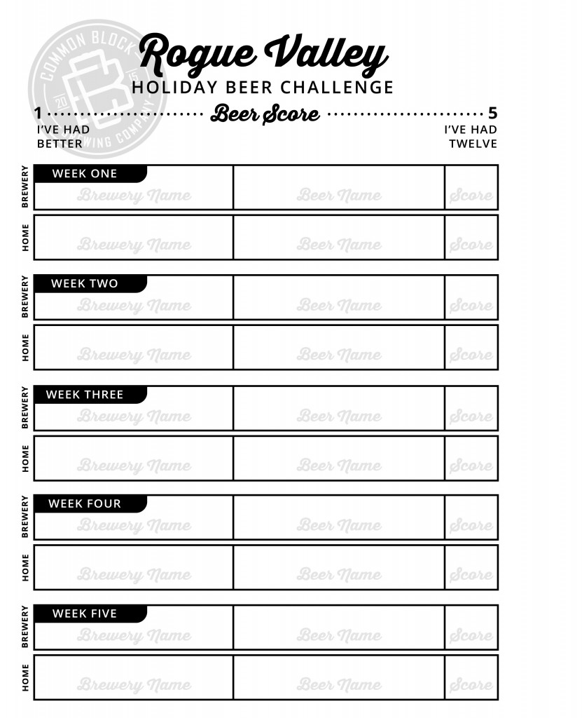 RV Holiday Beer Challenge