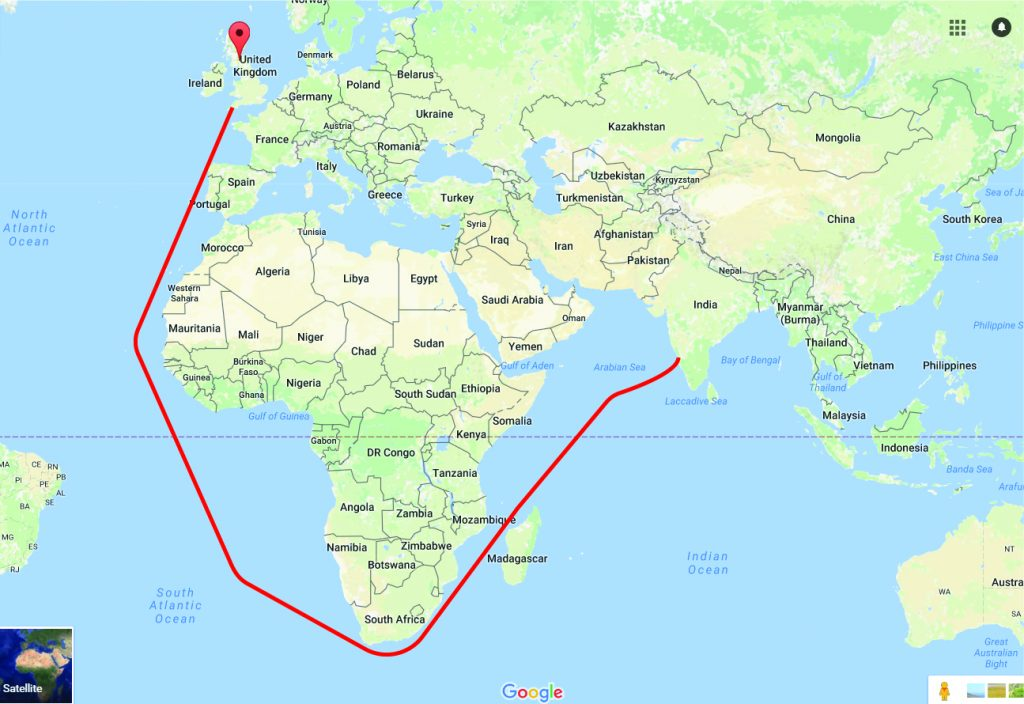 Beer history india pale ale common block brewing company route from england to india before the construction of the suez canal gumiabroncs Choice Image