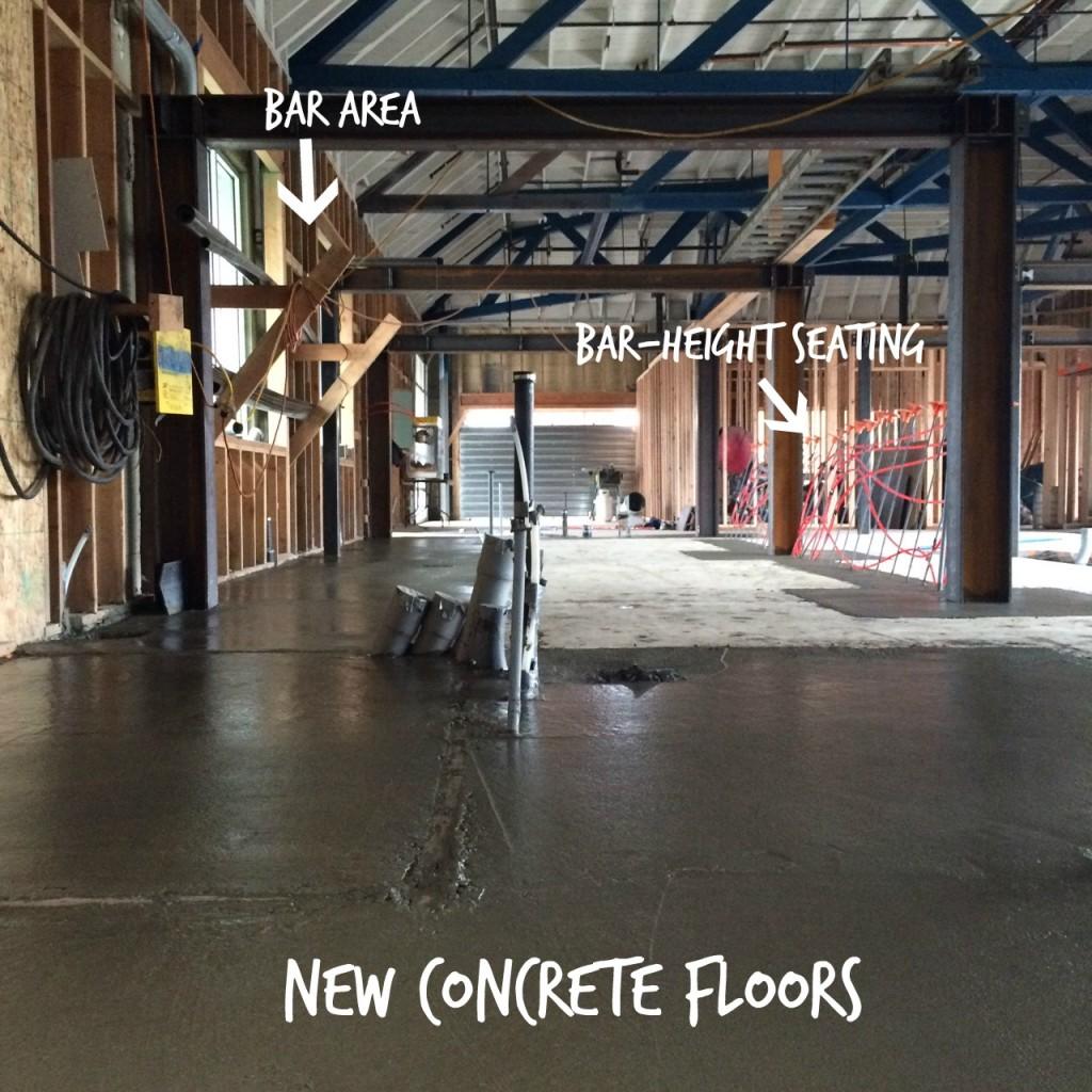 new concrete floors